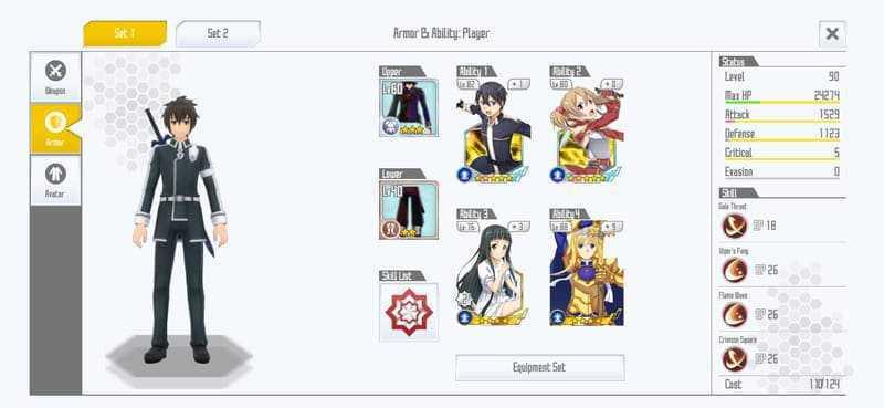 karakter Sword Art Online: Integral Factor