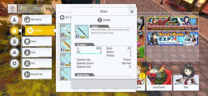 gameplay Sword Art Online: Integral Factor 1