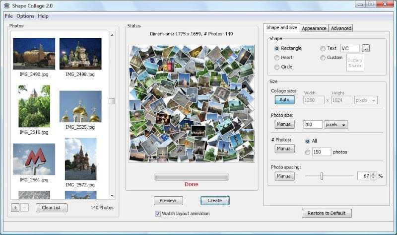aplikasi edit photo collage - shape collage