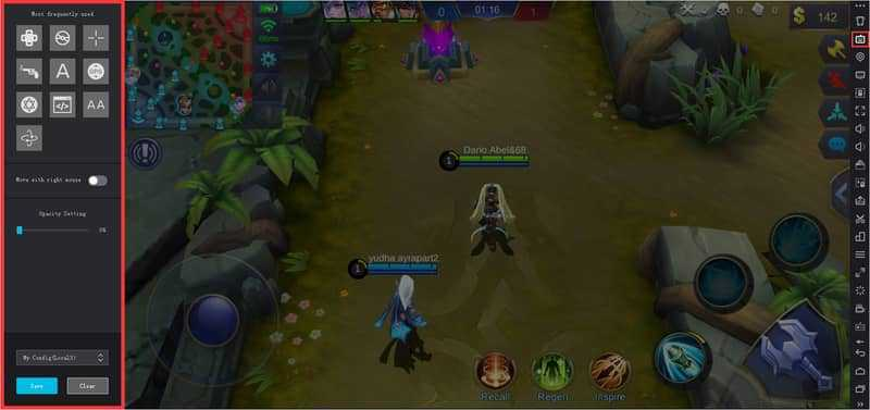 setting nox game mobile legends 2
