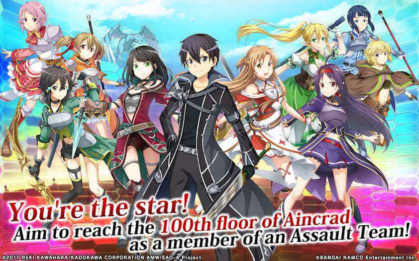 game anime android - sword art online integral factor