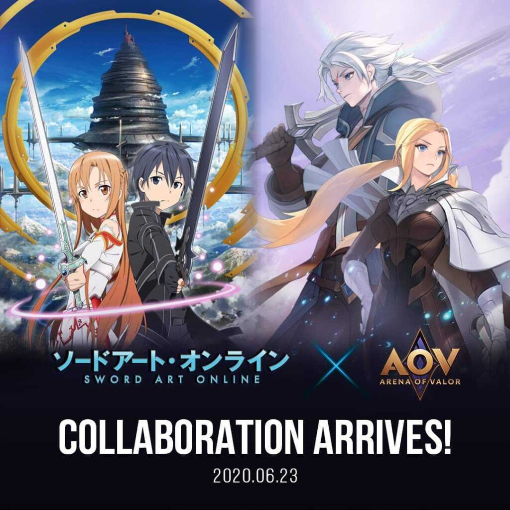 aov x sword art online