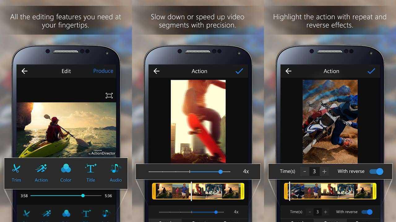 ActionDirector Video Editor - aplikasi edit video android terbaik
