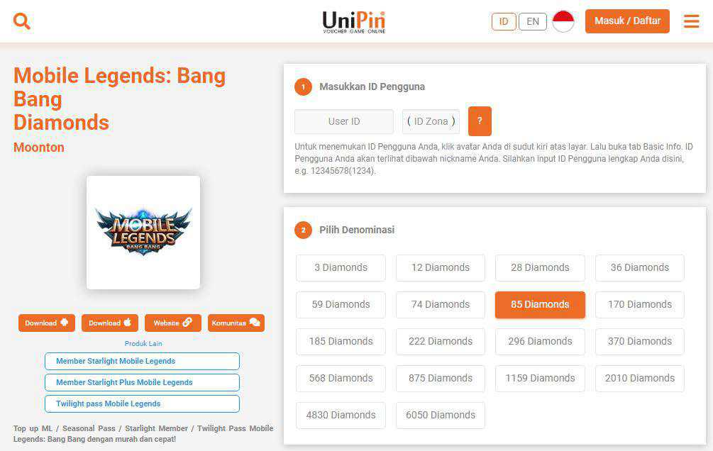 Unipin Mobile Legends