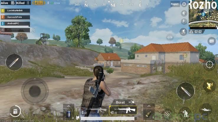 Menembakkan peluru PUBG Mobile