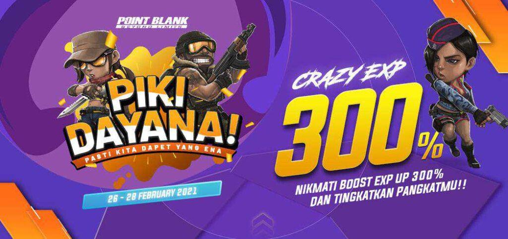 crazy exp up 300%