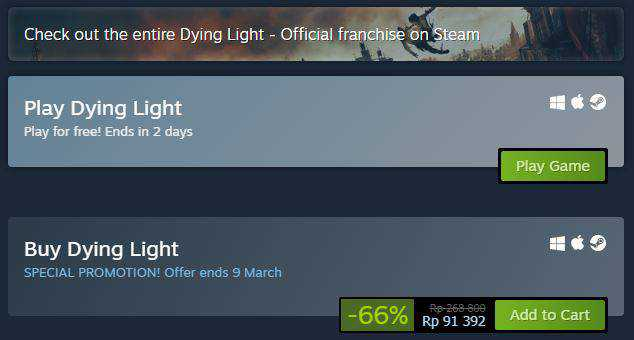 dying light steam