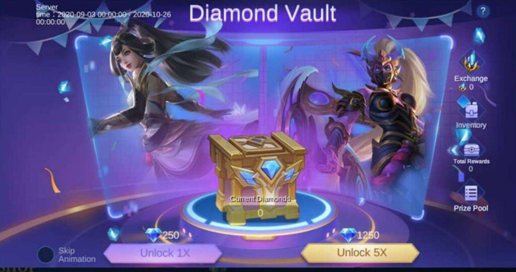 event diamond vault mlbb