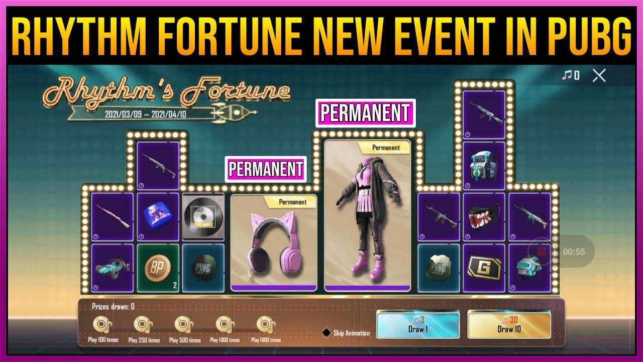 event rhythm fortune pubg mobile