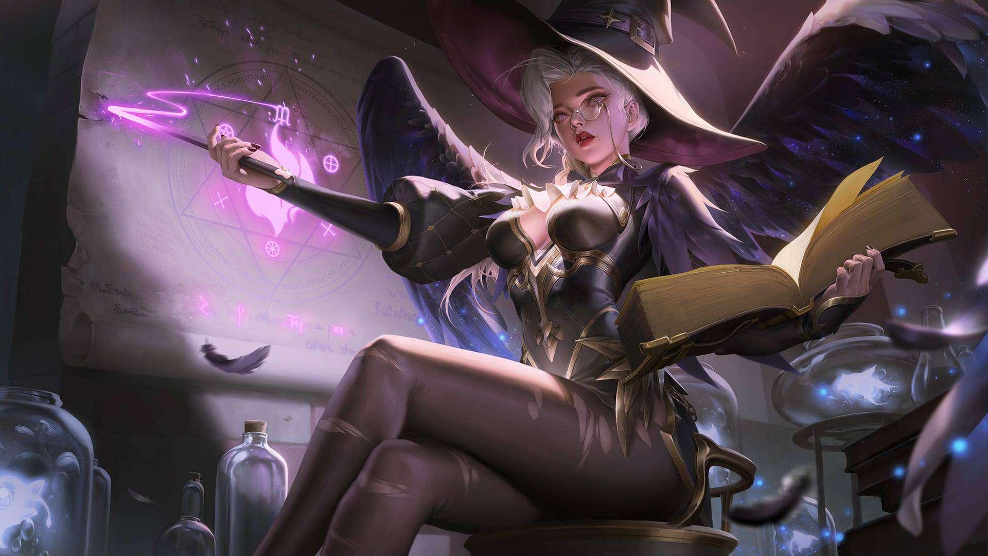 Wallpaper Alice MLBB Skin Wizardy Teacher HD for PC Hobigame