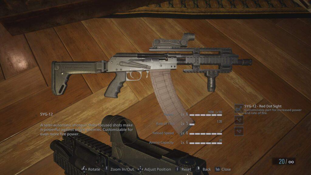 senjata syg 12 resident evil village