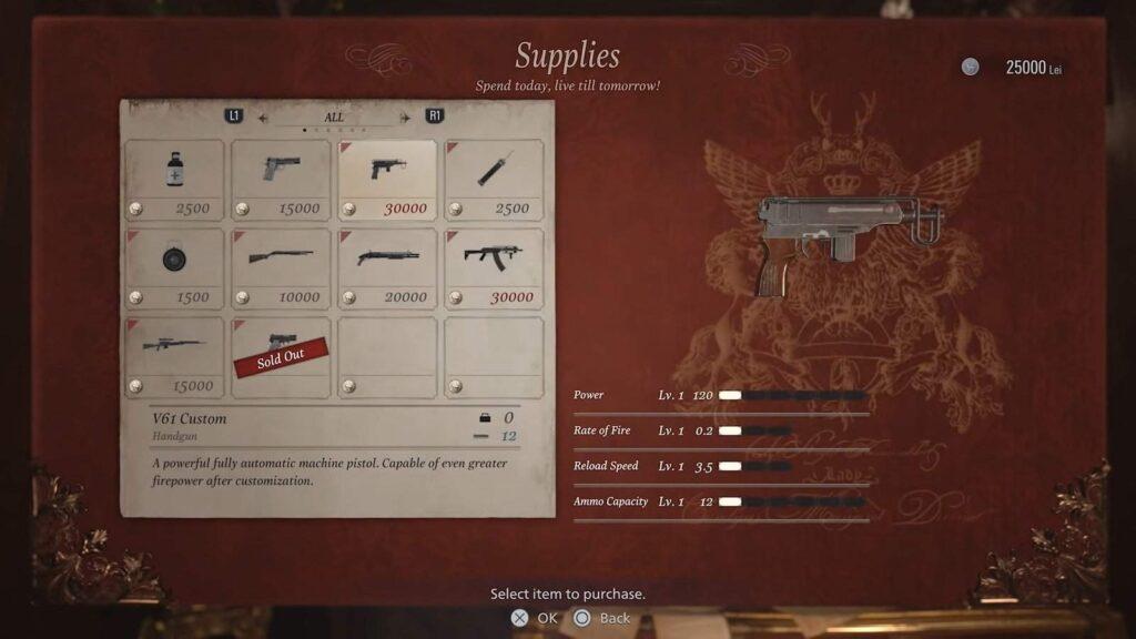 senjata v61 custom handgun resident evil village