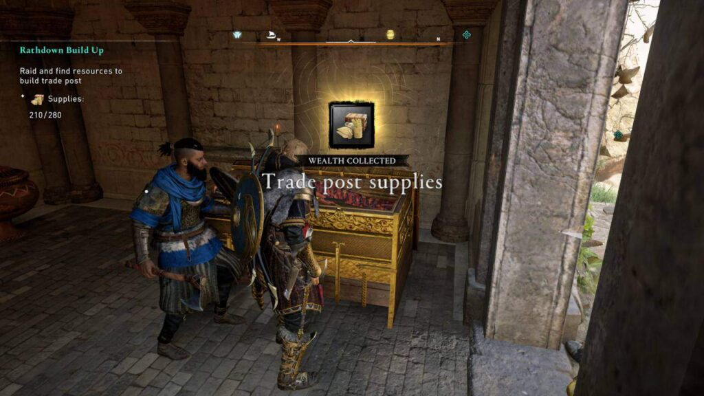 assassin's creed valhalla - rathdown build up trade post supplies