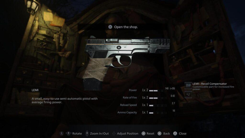resident evil village lemi handgun