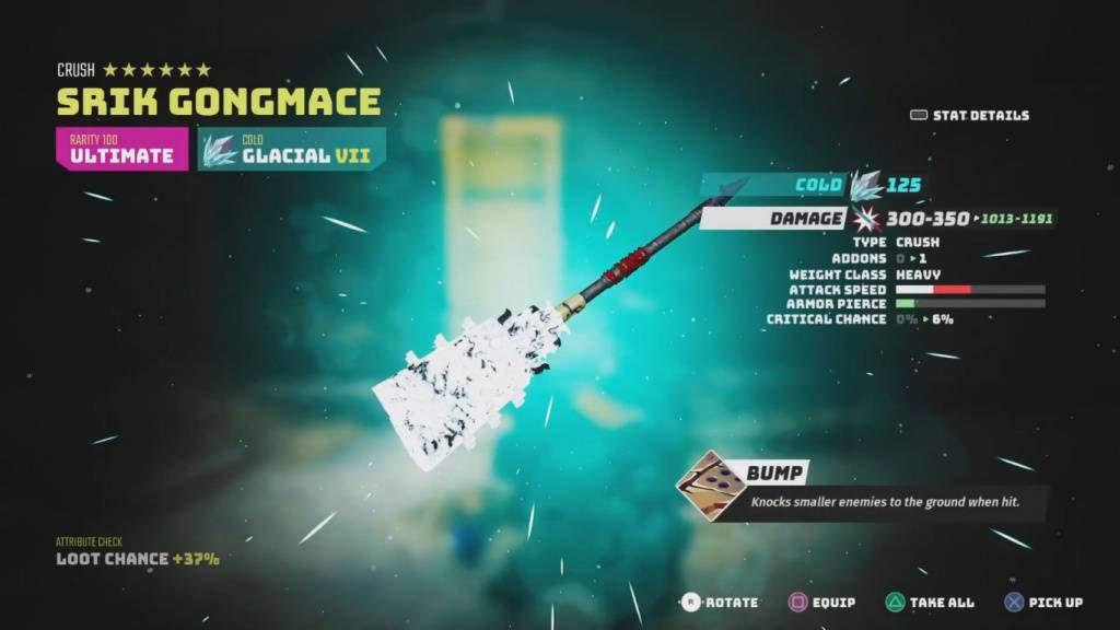 ultimate weapon srik gongmace biomutant
