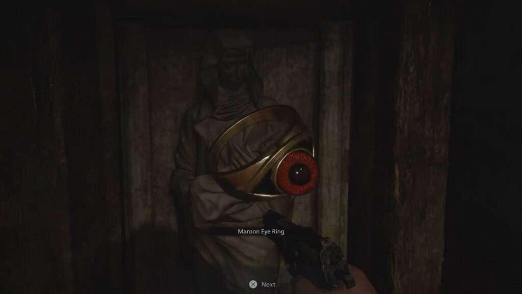 cincin maroon eye resident evil village