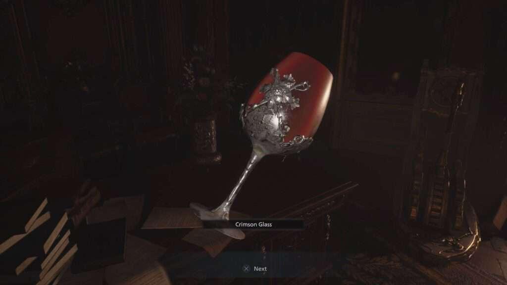 crimson glass resident evil village