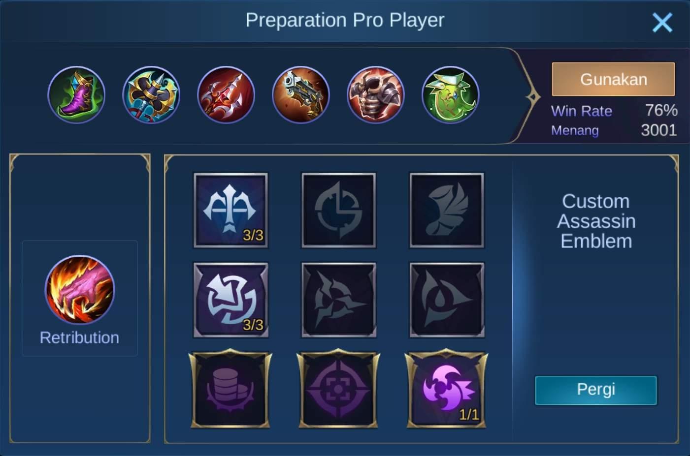 build item aldous mobile legends (ML) tersakit