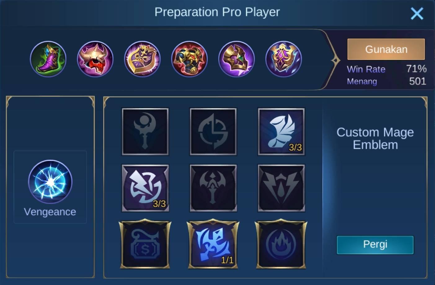 Build item carmila mobile legends (ML)