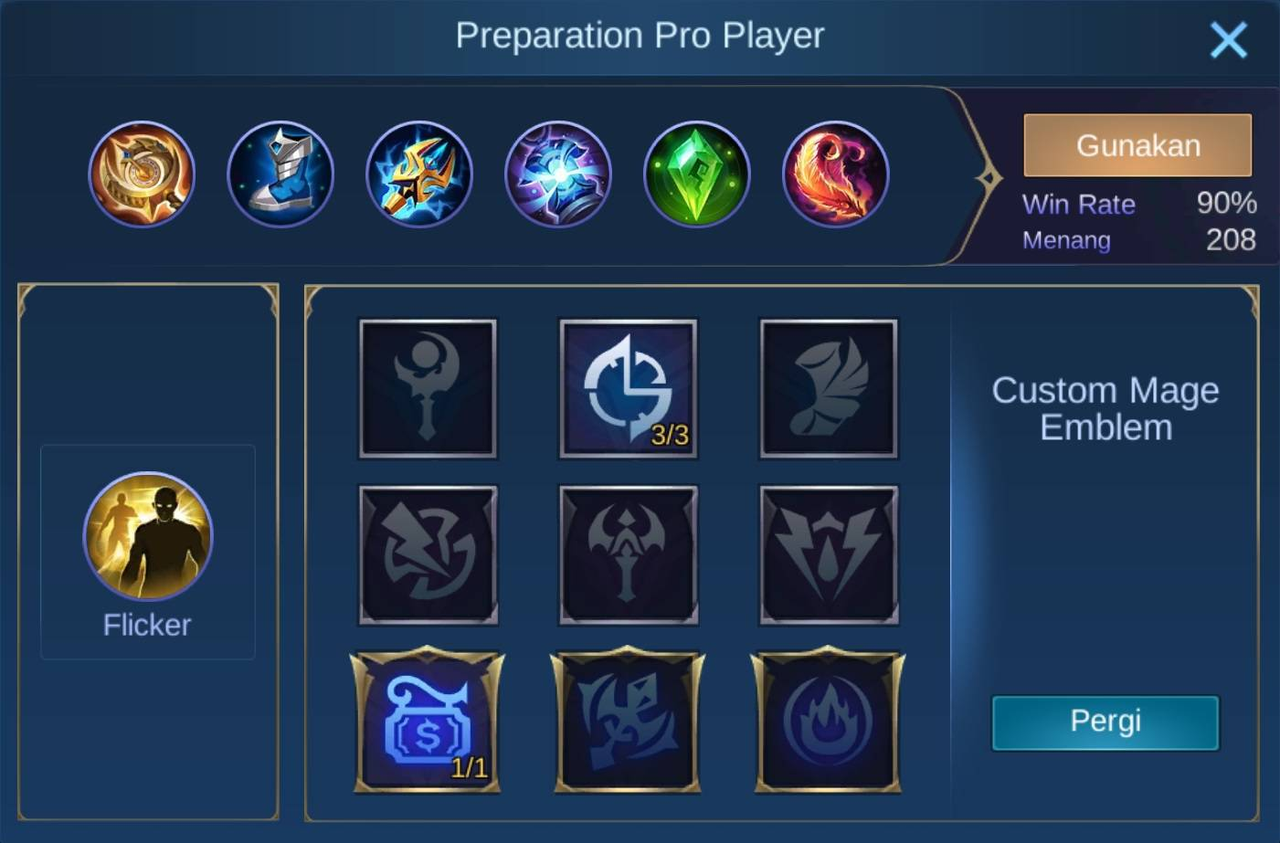 build item cecilion mobile legends (ML)
