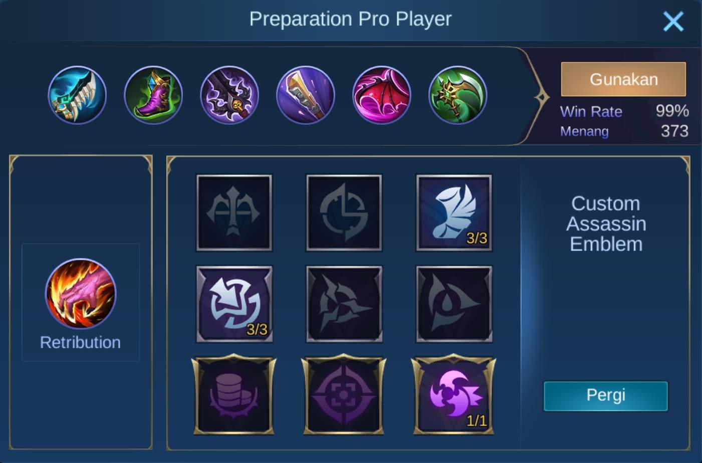 build item claude mobile legends (ML)