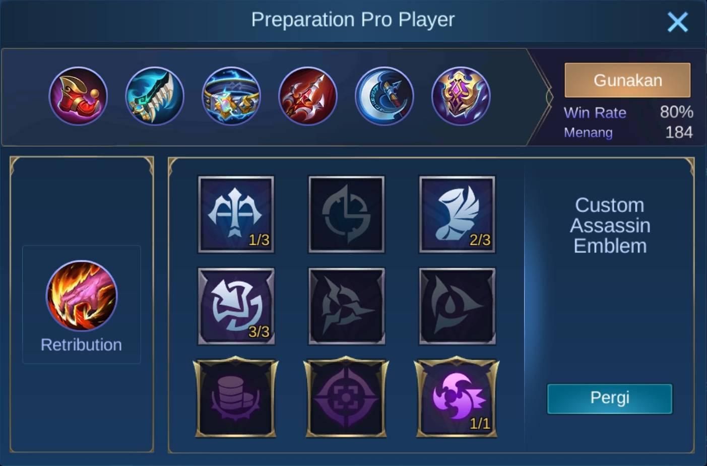 build items clint mobile legends (ML)