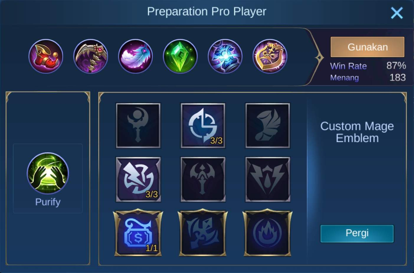 build items harith mobile legends (ML)