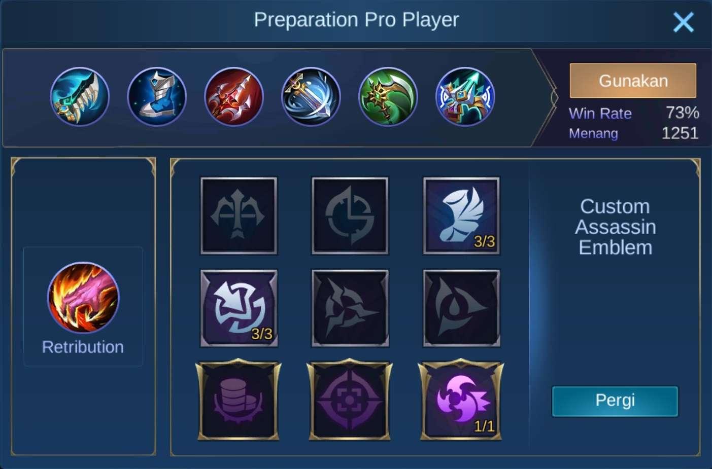 build item karrie mobile legends (ML)