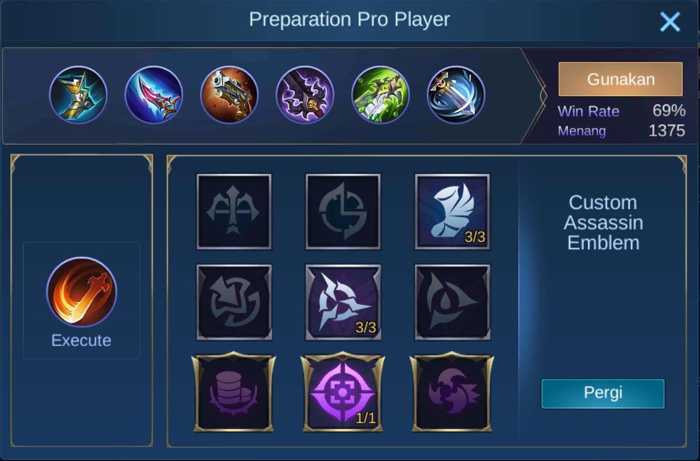 build item natalia mobile legends (ML)