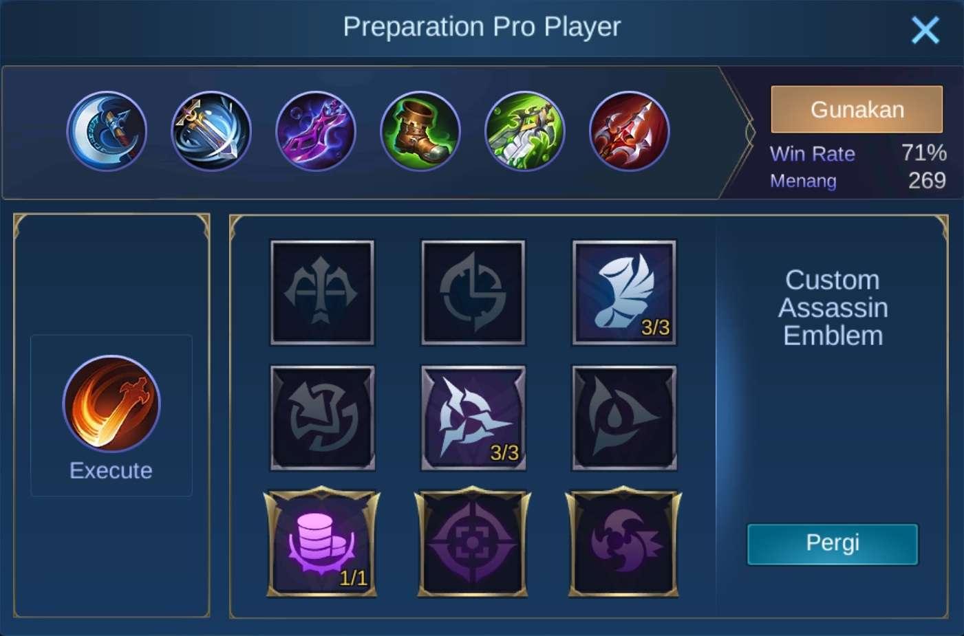 build items zilong mobile legends (ML)
