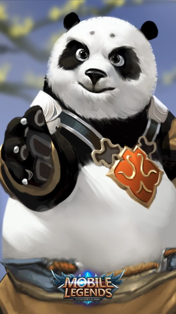 Akai Panda Warrior Old Skin Wallpaper Mobile Legends HD for Mobile - Hobigame.id